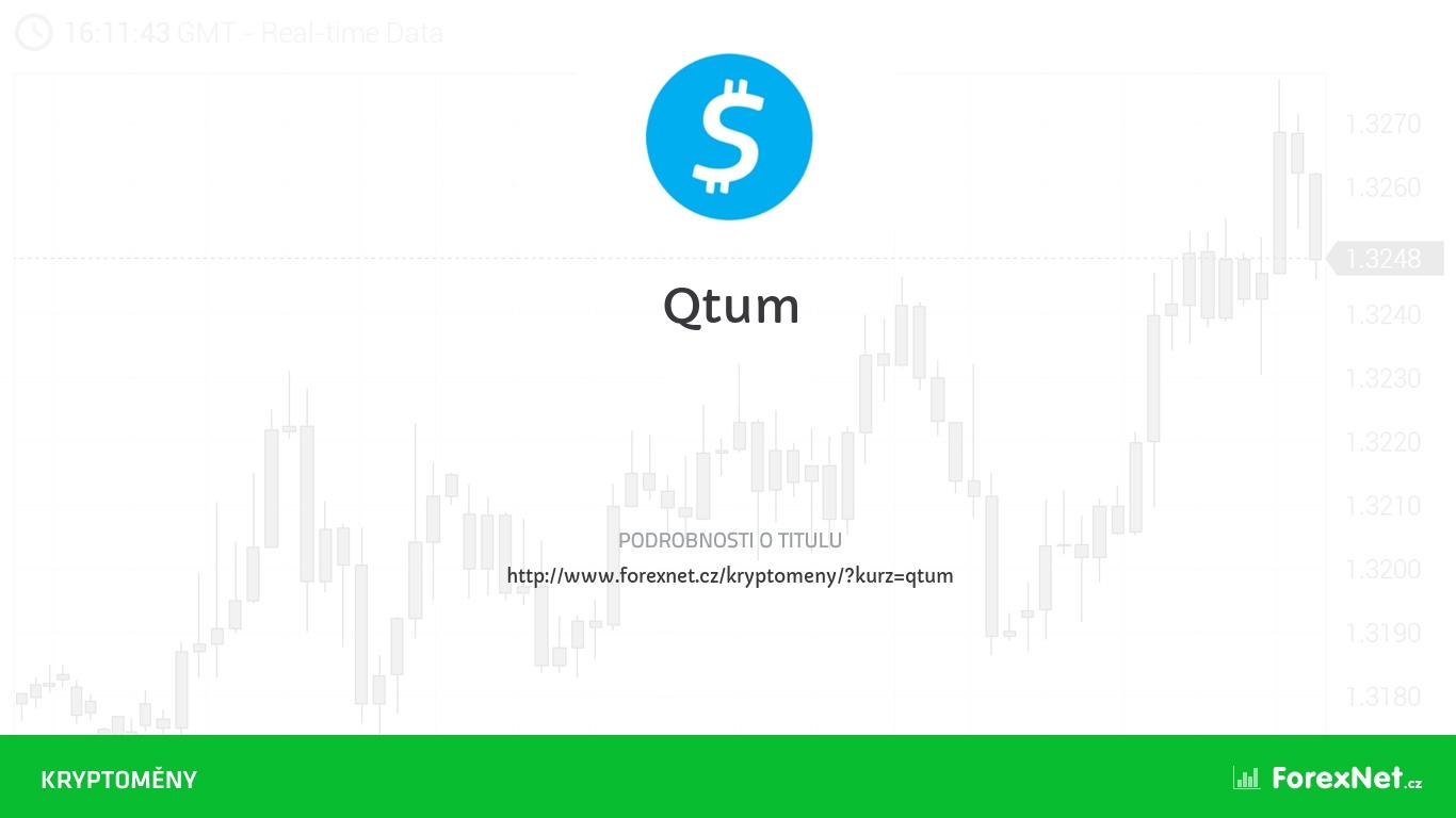 Kurz Qtum aktuálně, online, diskuze, vývoj, ceny, graf, doporučení