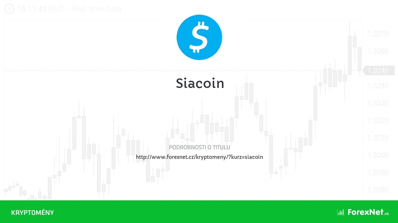 Kurz Siacoin aktuálně, online, diskuze, vývoj, ceny, graf, doporučení
