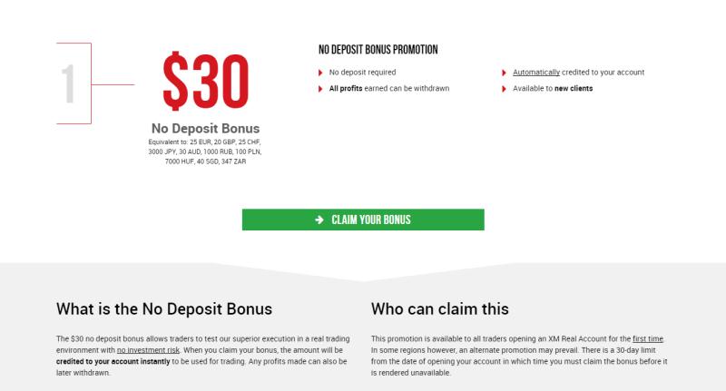 No deposit bonus broker forex
