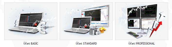 Typy obchodních účtů u X-Trade Brokers