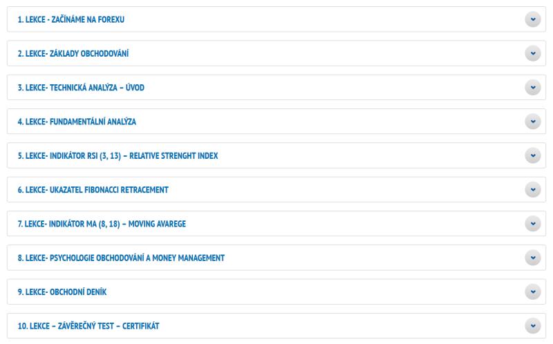 Přehled webinářů dostupných na webu brokera