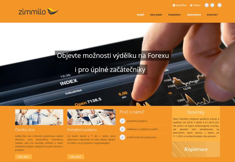 Recenze Zimmilo - webová stránka projektu