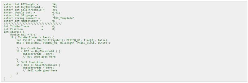 Příklad zápisu forex robota v jazyce MQL