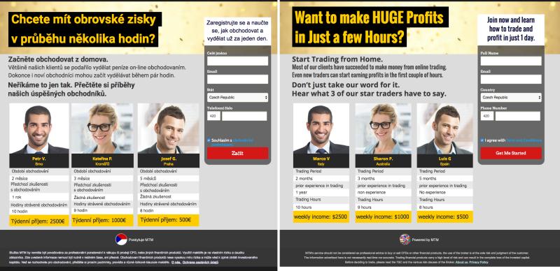 Lživé reklamy, které propagují tohoto brokera