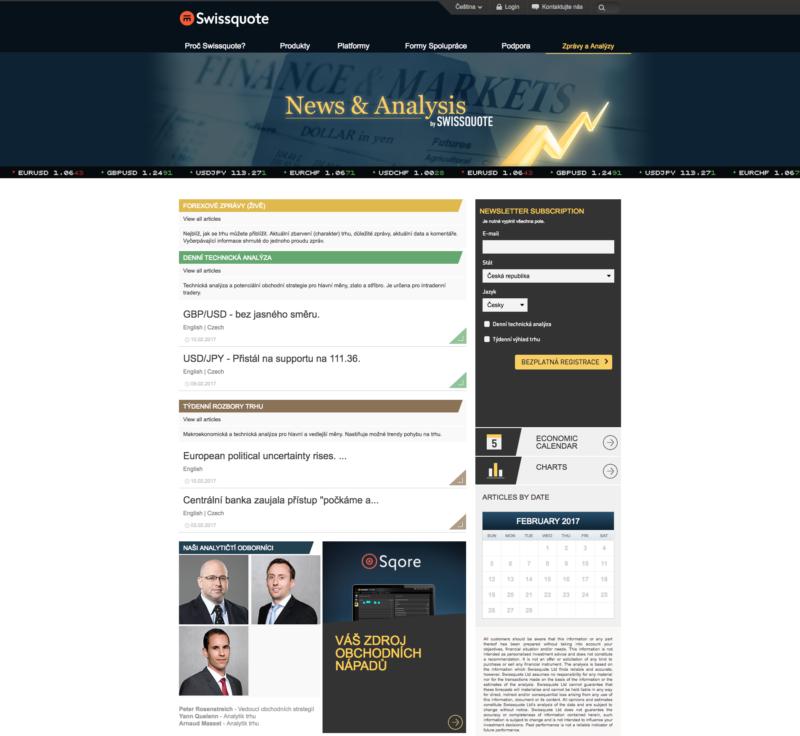 Některé zprávy z trhů jsou dostupné v češtině