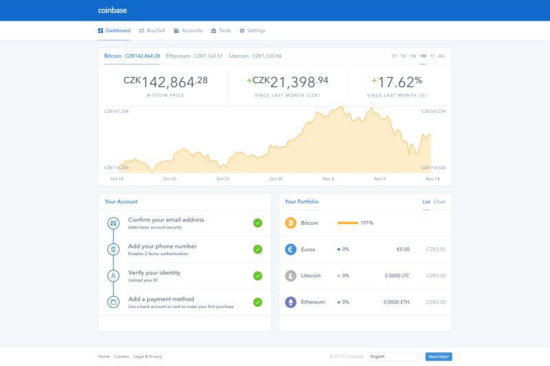 Populární směnárna Coinbase umožňuje přimý nákup BTC, LTC a ETH